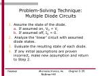 problem solving technique multiple diode circuits