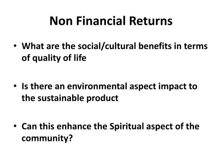 Non Financial Returns