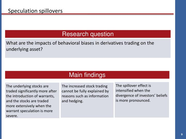 The spillover effect is intensified when the divergence of investors' beliefs is more pronounced.