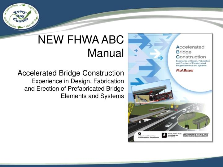 NEW FHWA ABC Manual
