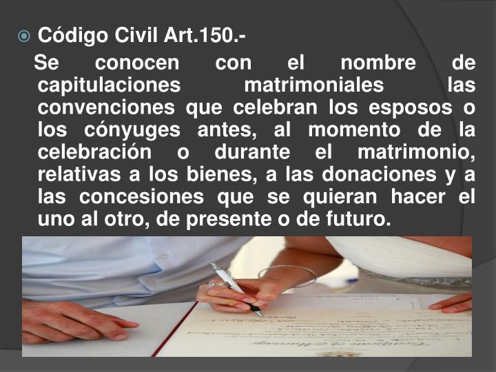 Código Civil Art.150.-