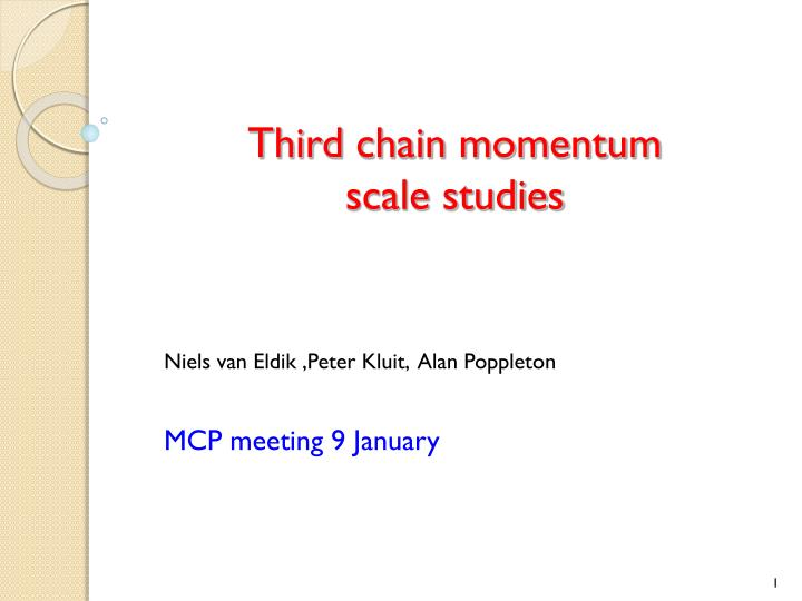 Third chain momentum scale studies