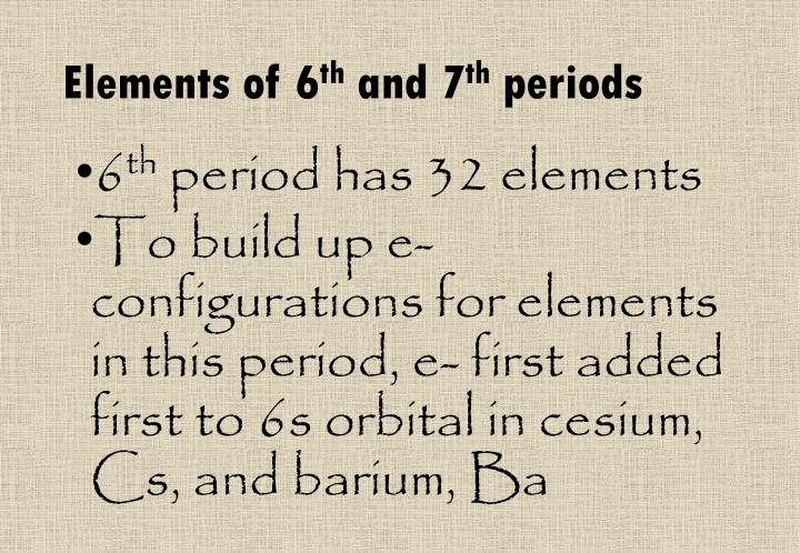 Elements of 6