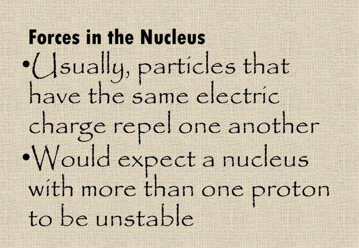 Forces in the Nucleus