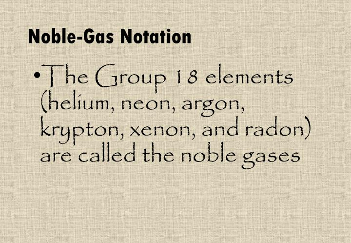 Noble-Gas Notation