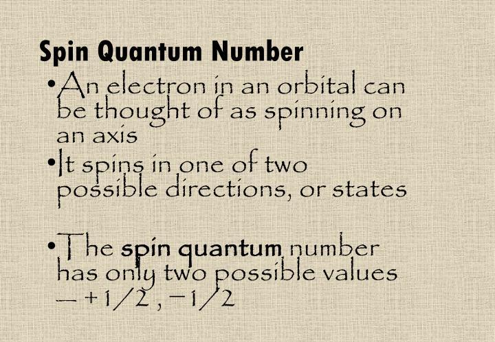 Spin Quantum Number