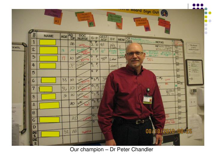 Our champion – Dr Peter Chandler