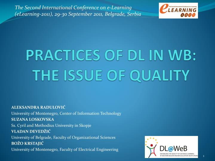 Practices of dl in wb the issue of quality