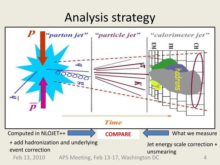 Analysis strategy