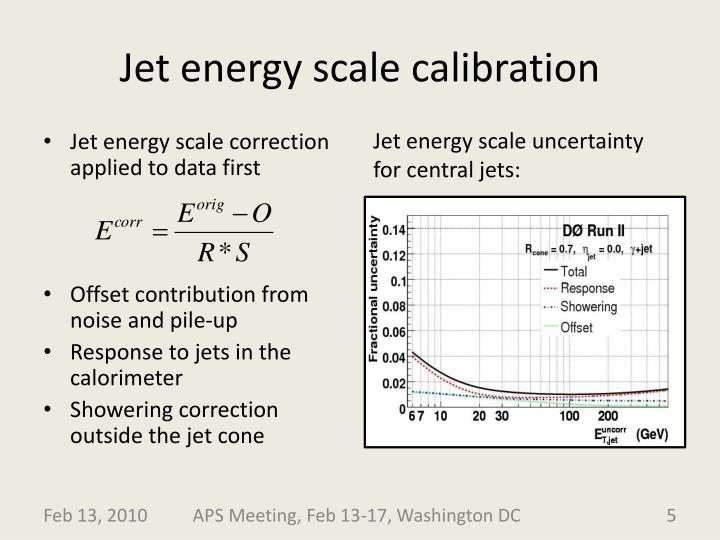 Jet energy scale calibration