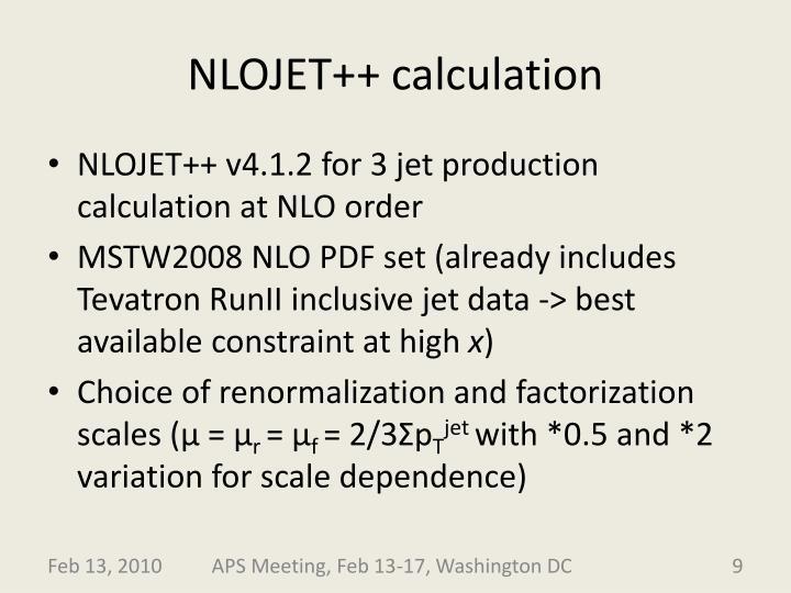 NLOJET++ calculation