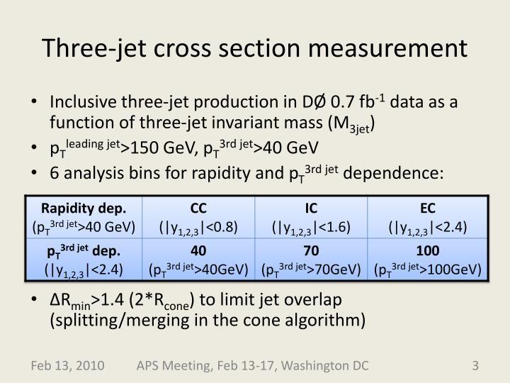 Three-jet cross section measurement