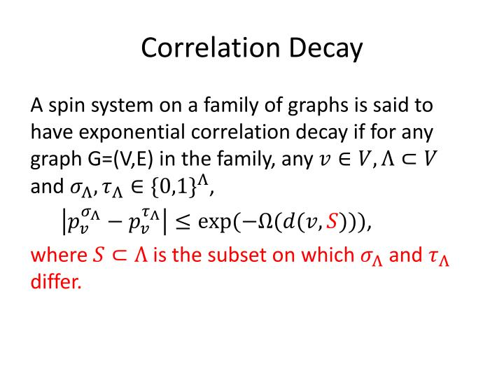 Correlation Decay