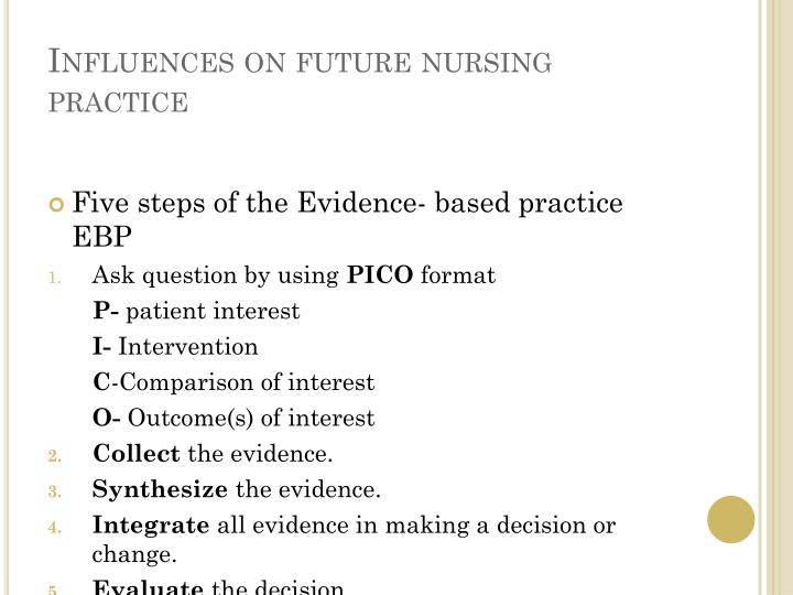 Influences on future nursing practice