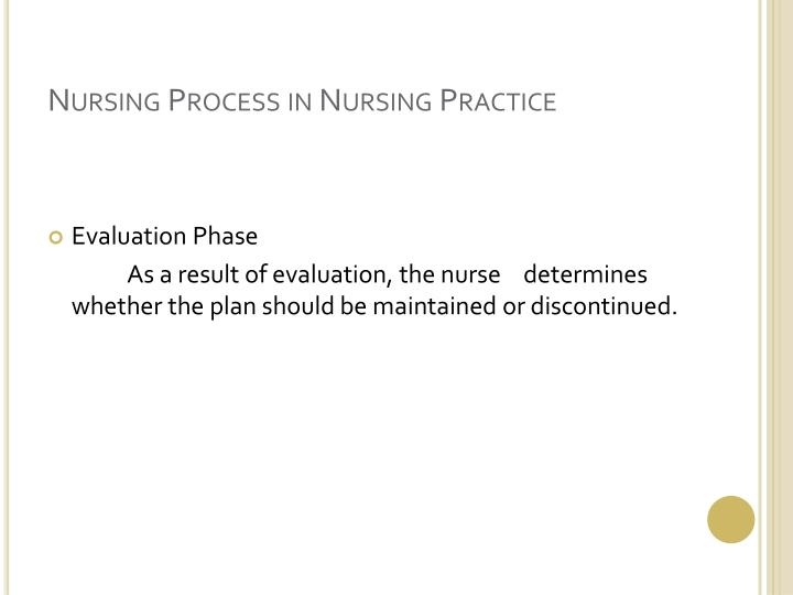 Nursing Process in Nursing Practice