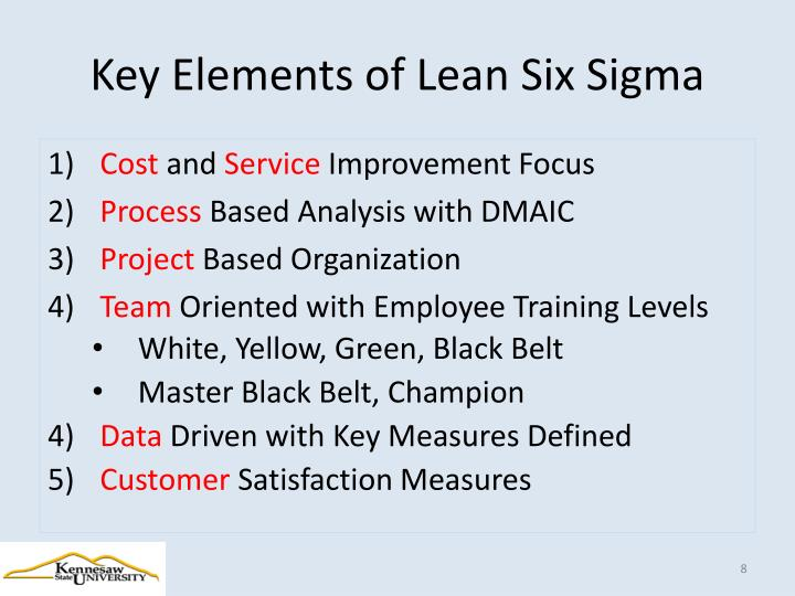 Key Elements of Lean Six Sigma