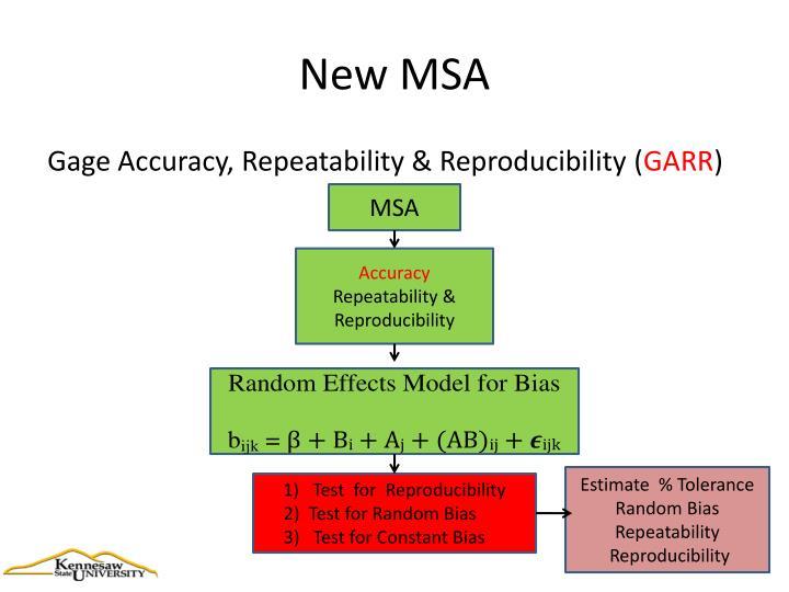 New MSA