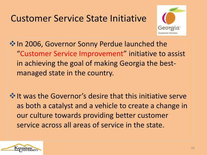 Customer Service State Initiative