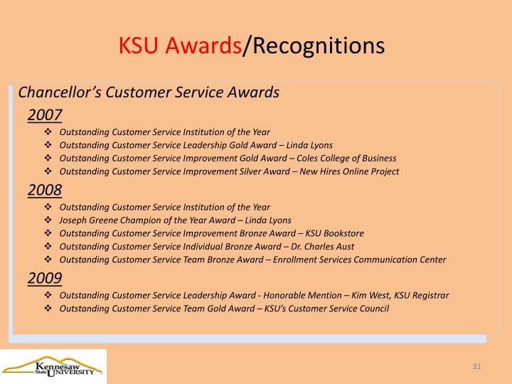 KSU Awards