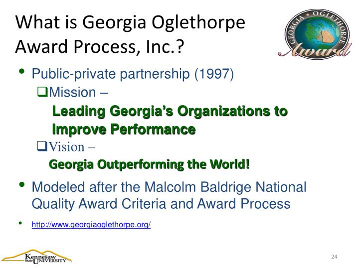 What is Georgia Oglethorpe Award Process, Inc.?