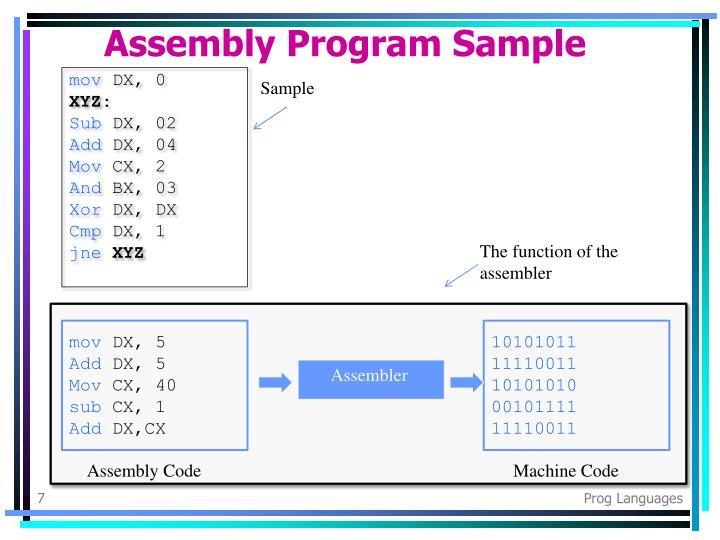 Assembly Program Sample