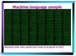 machine language sample