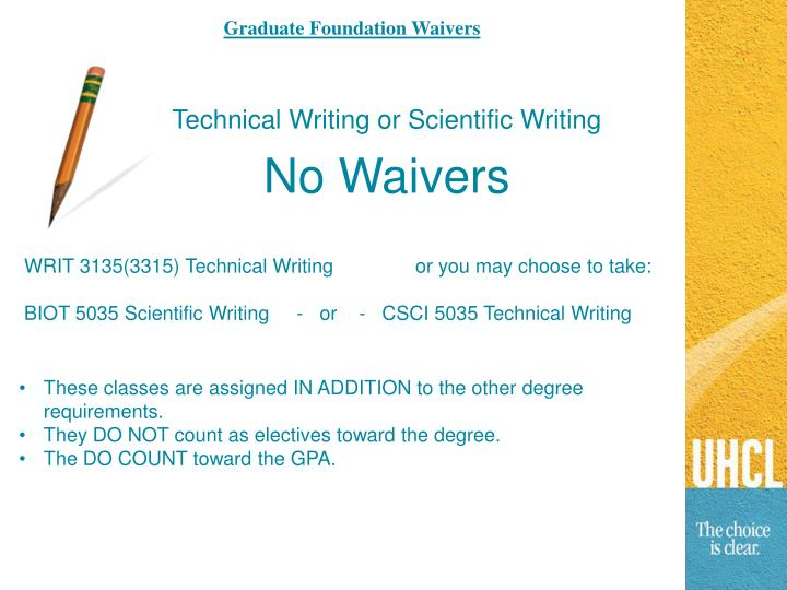 Graduate Foundation Waivers