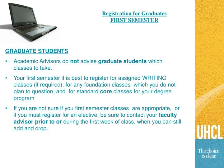 Registration for Graduates