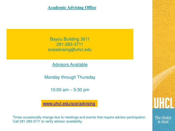 Academic Advising Office