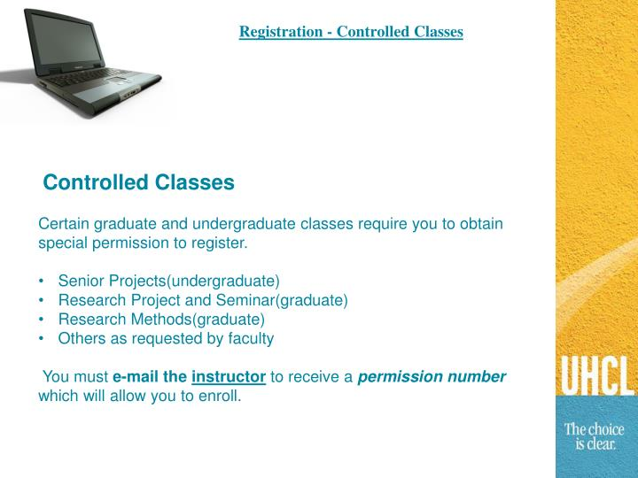 Registration - Controlled Classes