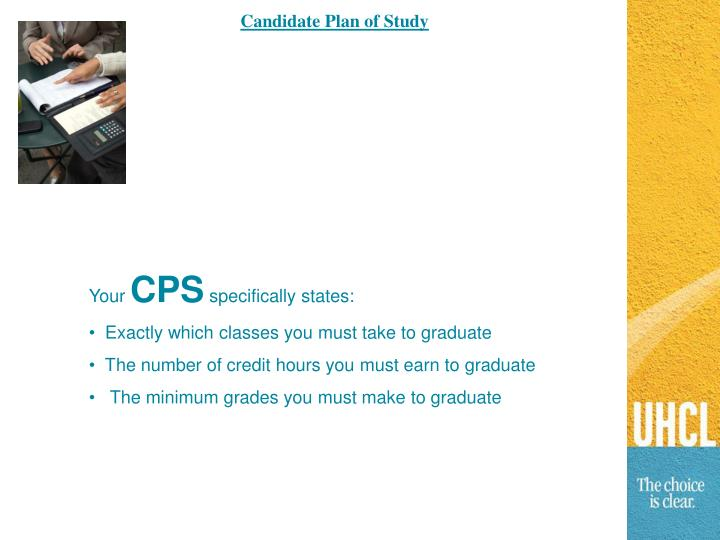Candidate Plan of Study