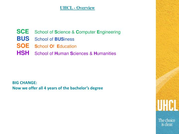 UHCL - Overview