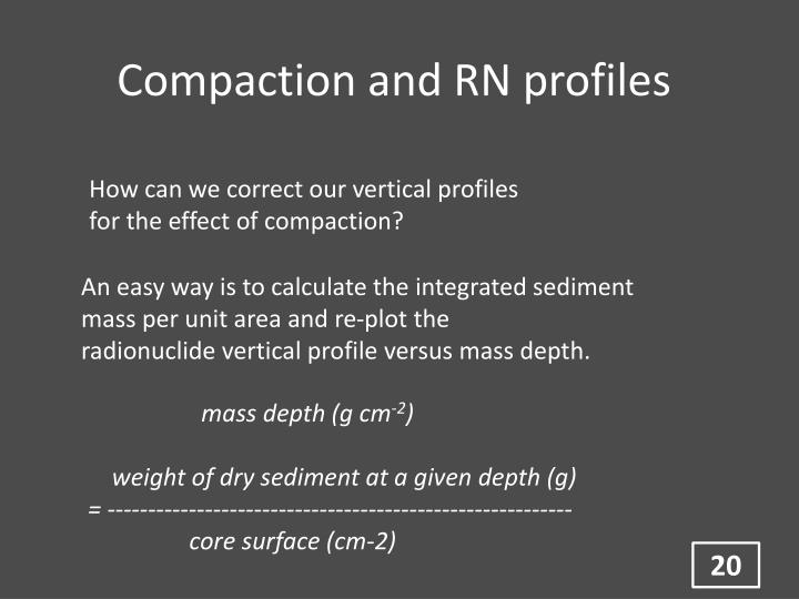 Compaction and RN profiles