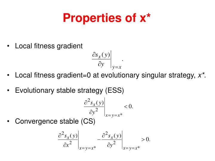 Properties of x*
