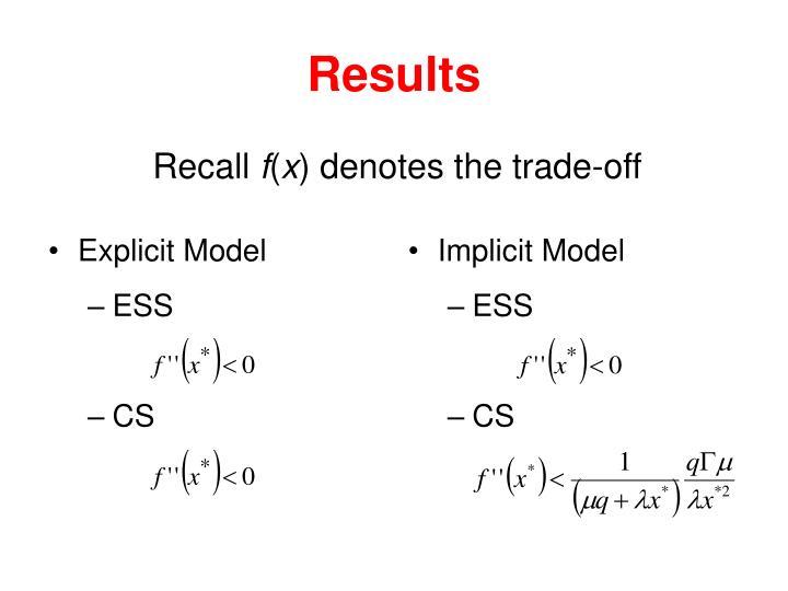 Explicit Model