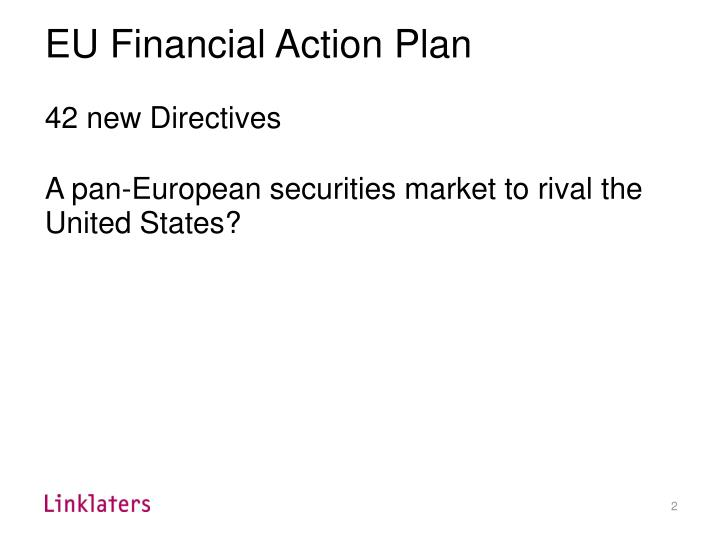 EU Financial Action Plan