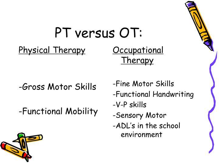 PT versus OT: