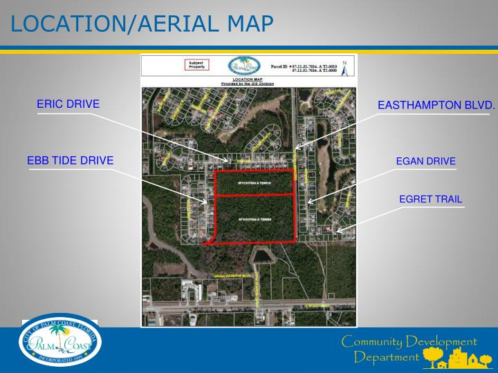 Location aerial map