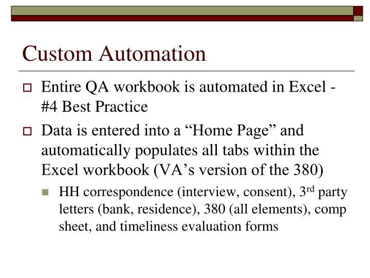 Custom Automation