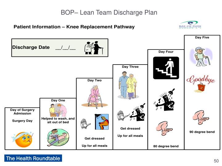 BOP– Lean Team Discharge Plan