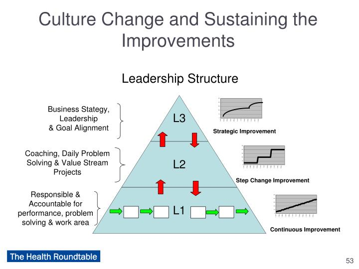 Culture Change and Sustaining the Improvements