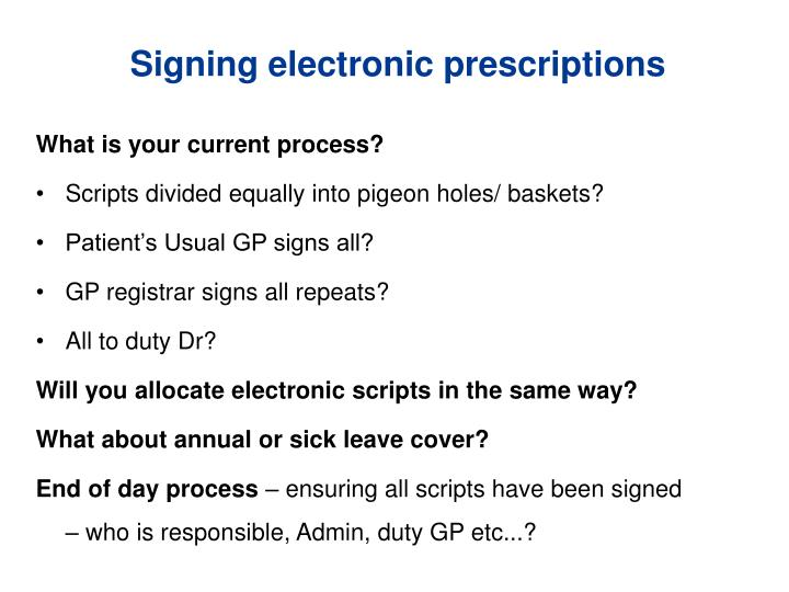 Signing electronic prescriptions