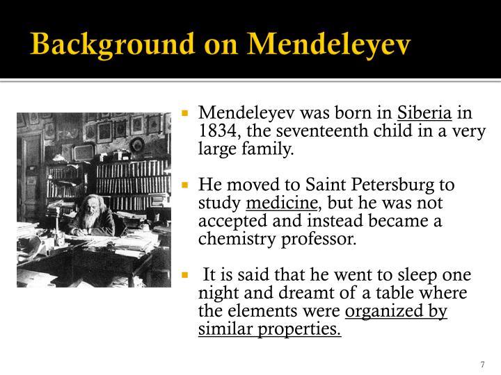 Background on Mendeleyev