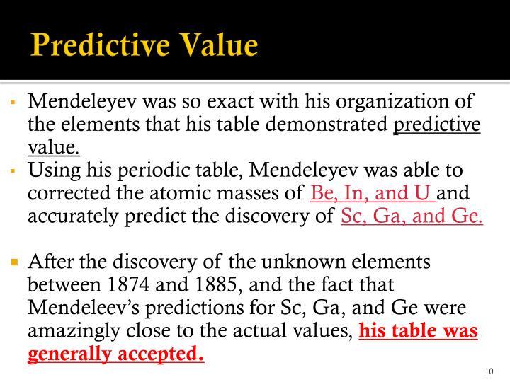 Predictive Value