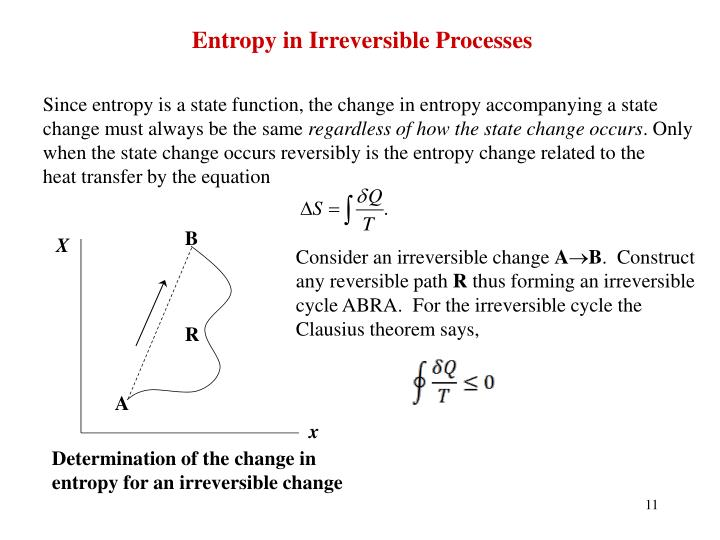 Entropy in Irreversible Processes