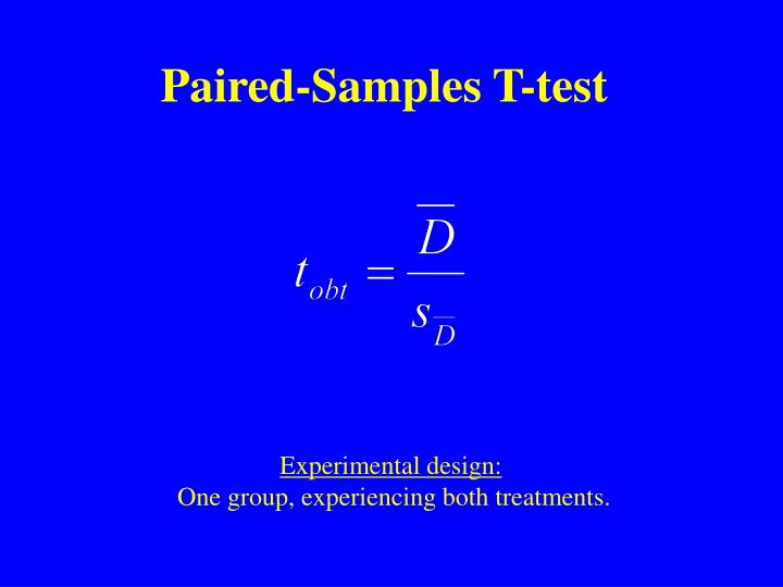 Paired-Samples T-test