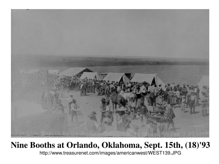 Nine Booths at Orlando, Oklahoma, Sept. 15th, (18)'93