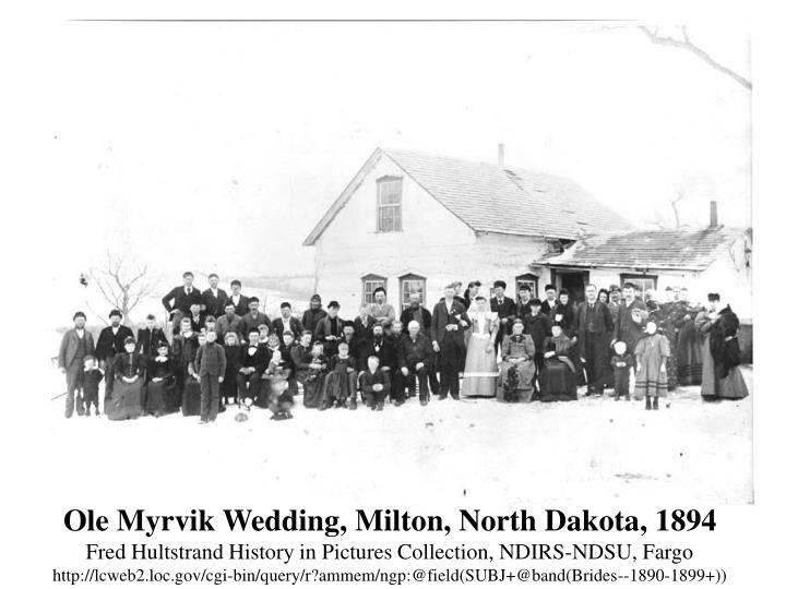 Ole Myrvik Wedding, Milton, North Dakota, 1894