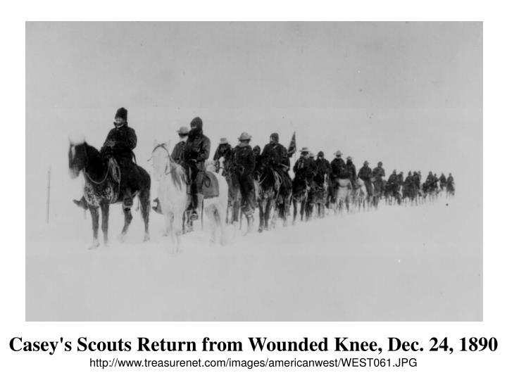 Casey's Scouts Return from Wounded Knee, Dec. 24, 1890