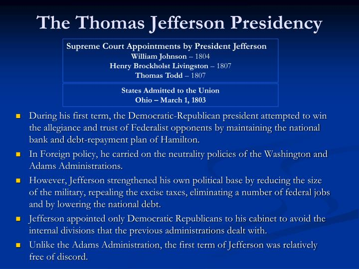 Ppt lecture 7 the age of jefferson 1800 1816 powerpoint presentation id 5504926 - Thomas jefferson term of office ...